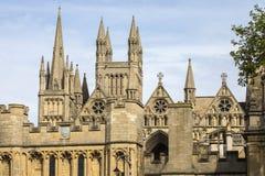 Peterborough domkyrka i UK Arkivbilder