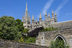 Peterborough katedra w UK zdjęcie royalty free