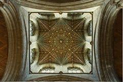 Peterborough-Kathedrale-Dach Lizenzfreie Stockfotos
