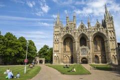 Peterborough-Kathedrale in Großbritannien Stockbild