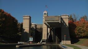 The Peterborough Lift Lock stock footage