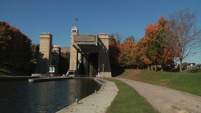 The Peterborough Lift Lock stock video