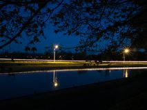 Peterborough Lift Locks Trent Severn Waterway At Dusk Stock Image
