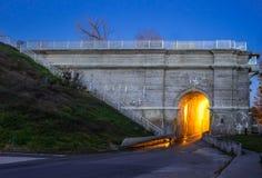 Peterborough Lift Locks Trent Severn Waterway At Dusk Royalty Free Stock Photos