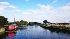 Peterborough rzeka Nene obrazy royalty free