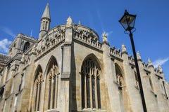 Peterboroughkathedraal in het UK Stock Afbeeldingen