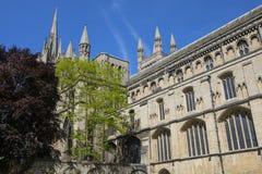 Peterboroughkathedraal in het UK Royalty-vrije Stock Afbeelding