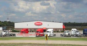 Peterbuilt Trucking Company, het Westen Memphis Arkansas stock afbeeldingen