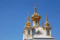 peterghof Паыля peter дворца церков Стоковое Фото
