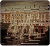 Petergof宫殿 免版税库存照片