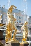petergof фонтанов Стоковое Изображение RF