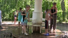 The Petergof fountain park most interesting amusement for children. stock video footage