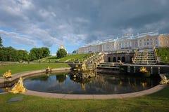 Petergof pałac Fotografia Royalty Free