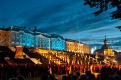 Petergof-Palast in Russland Lizenzfreies Stockfoto