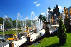 Petergof Park In Saint Petersburg Russia Royalty Free Stock Photography