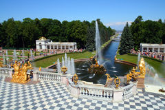 Petergof park in Saint Petersburg Russia Stock Photography