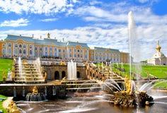 Petergofpaleis, Rusland stock foto's