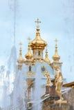 peterhof俄国 俄国国君的前住所 免版税库存照片