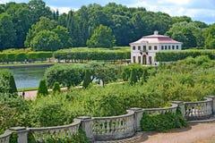 peterhof俄国 Ma的宫殿的看法 库存图片