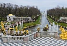 Peterhof宫殿,俄罗斯 库存照片