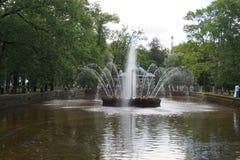 Peterhof庭院 免版税图库摄影