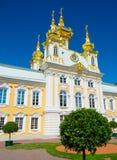 Peterhof的教会 库存图片