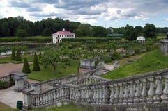 Peterhof的金星庭院。 库存照片