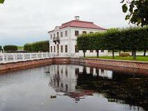 Peterhof的Marli宫殿 17世纪 库存照片