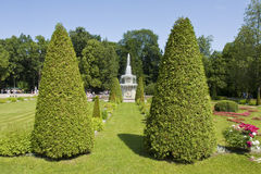 Peterhof,俄罗斯 免版税库存图片