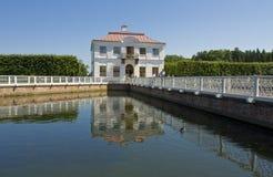Peterhof,宫殿Marli 库存照片