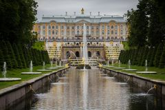 Peterhof, Άγιος-Πετρούπολη, Ρωσία στοκ φωτογραφίες με δικαίωμα ελεύθερης χρήσης