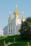 peterhof дворца церков грандиозное Стоковые Фото