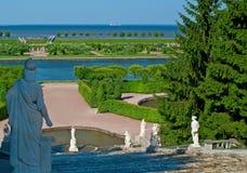 peterhof фонтана Стоковые Изображения