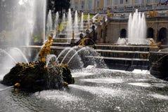 peterhof фонтанов каскада грандиозное Стоковые Изображения