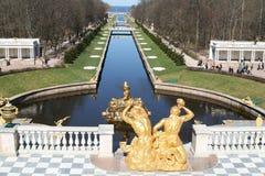 peterhof фонтанов Стоковые Фотографии RF