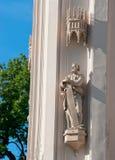 peterhof 俄国 哥特式教堂博物馆的雕塑 库存图片