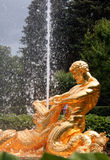 Peterhof. Triton Fountain at Peterhof, Russian Federation royalty free stock photo