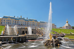 Peterhof. Great fountain Samson in Peterhof royalty free stock photos
