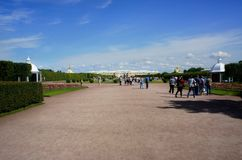 Peterhof. The architectural and historical complex of Peterhof, a suburb of St. Petersburg Royalty Free Stock Photos
