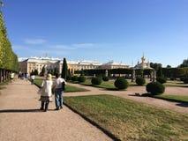 peterhof Atrakcja turystyczna Rosja na obrzeżach St Petersburg Zdjęcia Royalty Free