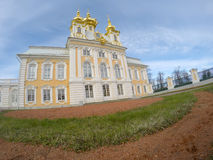 Peterhof Big palace in Peterhof in a sunny day Stock Photography