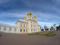 Peterhof Big palace in Peterhof in a sunny day Stock Photo