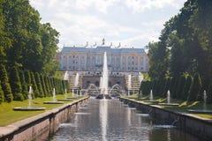 Peterhof. Big palace. Stock Photos
