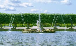 Peterhof-Brunnen Apolino Lizenzfreie Stockfotos