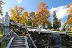 Peterhof. Cascade Chess Mountain Stock Photography