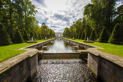 Peterhof, cascade grande Images libres de droits