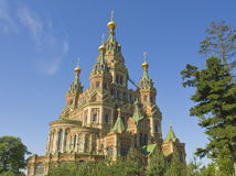 Peterhof, cathedral of St. Peter and St. Paul Stock Photos