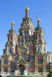 Peterhof, cattedrale degli apostoli Peter e Paul Immagini Stock
