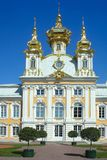 Peterhof, chiesa del palazzo Immagini Stock