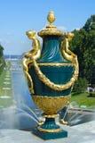 Peterhof, dekoracyjna waza Fotografia Royalty Free